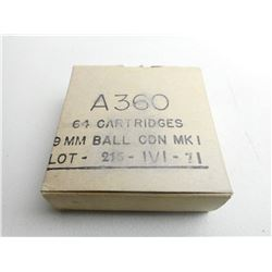 A360 9MM BALL CND MKI LOT 215 IVI -71 AMMO