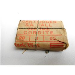 .303 CORDITE S.A.BALL CARTRIDGES MARK VI WITH BROAD ARROW