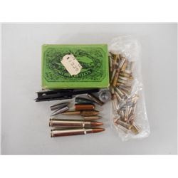 ASSORTED AMMO, BRASS & BULLETS