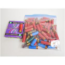 ASSORTED LOT OF 12 GAUGE SHOTGUN SHELLS AND 12/70 SIGNAL FLARES