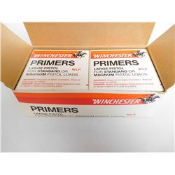 WINCHESTER LARGE PISTOL PRIMERS FOR STANDARD OR MAGNUM LOADS WLP