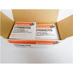 WINCHESTER LARGE PISTOL PRIMERS FOR STANDARD OR MAGNUM LOADS