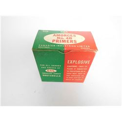 CIL SMOKELESS POWDER SHOT SHELLS NO. 4B PRIMERS