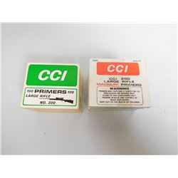 ASSORTED LOT OF CCI LARGE RIFLE PRIMERS INCLUDING  NO. 250 AND NO. 201