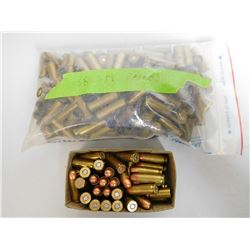 ASSORTED LOT OF 38 AUTO AMMO AND 38 SPL PRIMED BRASS
