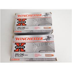 WINCHESTER 25-06 90 GR. FACTORY AMMO