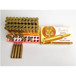 ASSORTED LOT OF WEATHERBY .300 AND .270 AMMO AND CASES