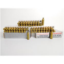 ASSORTED LOT OF 270 BRASS AND AMMO