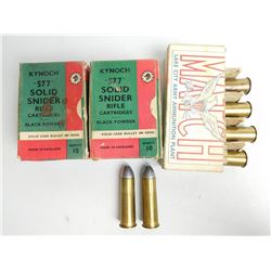 ASSORTED RNDS OF 577 SNIDER AMMO