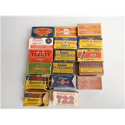 ASSORTED LOT OF 22 INCLUDING 22 LONG AND 22 LR AMMO