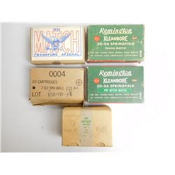 ASSORTTED LOT OF 30-06 AND 7.62 NATO AMMO SOME IN COLLECTOR BOXES