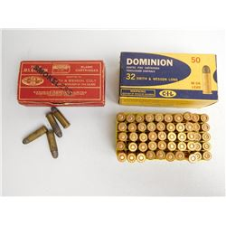 DOMINION 32 S & W LONG AMMO AND BRASS