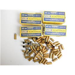 ASSORTED LOT OF .45 COLT AMMO AND BRASS