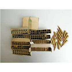 ASSORTED RNDS OF 7.62 NATO MATCH AMMO AND BRASS