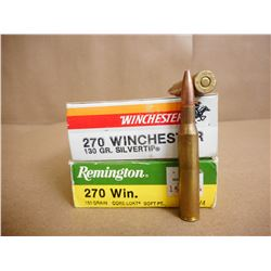ASSORTED LOT OF 270 WIN INCLUDING REMINGTON AND WINCHESTER