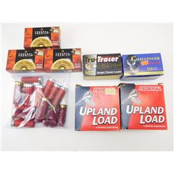 ASSOSRTED LOT OF 12 GS X 2 3/4 SHOTGUN SHELLS INCL FEDERAL AND TRU-TRACERS AND VARIOUS
