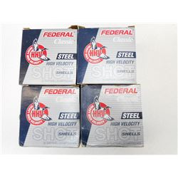 FEDERAL HIGH VELOCITY STEEL 12 GA X 2 3/4 SHOTSHELLS # 3 AND # 4
