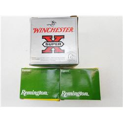 ASSORTED LOT INCLUDING WINCHESTER DRYLOK AND REMINGTON MAG BUCKSHOT, # 3 STEEL SHOT 12GA X 3 1/2 SHO