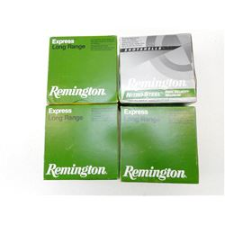 ASSORTED LOT OF REMINGTON INCLUDING EXPRESS LONG RANGE AND NITRO-STEEL 12 GA X 2 3/4 SHOTSHELLS