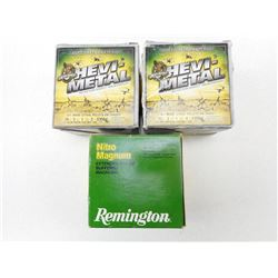 ASSORTED LOT OF 20 GA X 3 SHOTSHELLS INCLUDES REMINGTON AND HEVI-METAL #2 AND # 6 SHOT SIZES