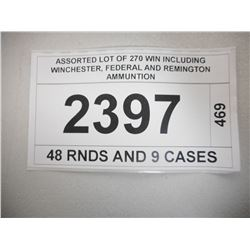 ASSORTED LOT OF 270 WIN INCLUDING WINCHESTER, FEDERAL AND REMINGTON AMMUNTION