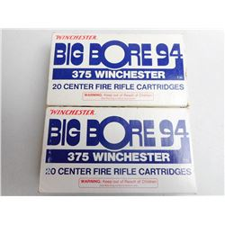 WINCHESTER BIG BORE 94 375 WIN 200 GR POWER POINT AMMUNITION