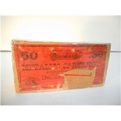 DOMINION 38 SHORT RIM FIRE BEAVER LOGO BOX OF AMMUNITION