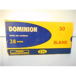 DOMINION 38 SPECIAL BLANKS
