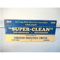 CANADIAN IND SUPER-CLEAN .22 LR RIM FIRE GREASED AMMUNITION