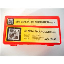 NEW GENERATION AMMUNTION .223 REM AMMO