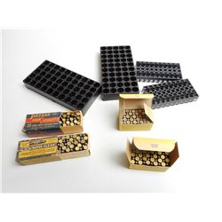 ASSORTED .22 LR AMMO & TRAYS