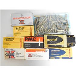 ASSORTED LOT OF .308 WIN BRASS