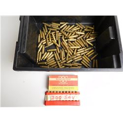 ASSORTED LOT OF SAVAGE BRASS INCL. 250, 300,303