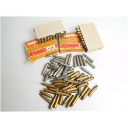 ASSORTED LOT OF NORMA AND IMPERIAL BRASS 6.5 X 55 SWEDISH