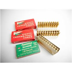 ASSORTED LOT OF .222 BRASS CASES