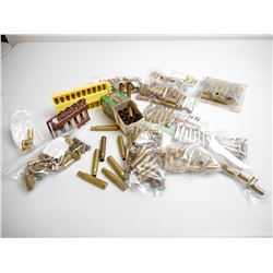 ASSORTED LOT OF BRASS CASES INCLUDING .270 WIN, 44 REM, 32 WIN., 38 SPL, 9MM AND VARIOUS