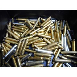 ASSORTED LOT OF 300 WIN MAG BRASS AND STEEL CASES