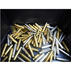 ASSORTED LOT OF 338 WIN MAG STEEL AND BRASS CASES