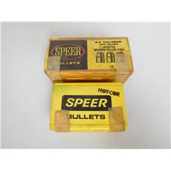 ASSORTED LOT OF SPEER BULLETS INCLUDING 44 CAL. 240 GRAIN AND 303 CAL 150 GR.