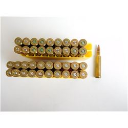 ASSORTED LOT OF .270 WEATHERBY MAG AMMO AND BRASS IN PLASTIC CASES