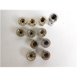 ASSORTED LOT OF LYMAN/RCBS BULLET AND SHELL  HOLDERS
