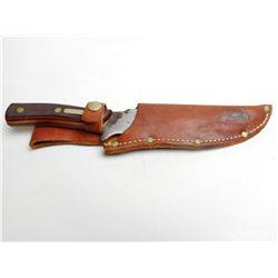 SCRADE OLD TIMER HUNTING KNIFE WITH LEATHER SHEATH