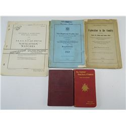 ASSORTED MILITARY TRAINING & INFORMATION BOOKS