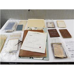 ASSORTED SOLDER'S COLLECTIONS & FAMILY NOTES