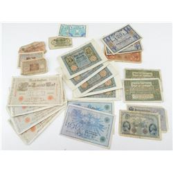 ASSORTED GERMAN BANK NOTES
