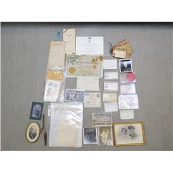 ASSORTED WAR RELICS, PERSONALS & MEMORABILIA