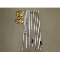 ASSORTED FLAG POLES PIECES