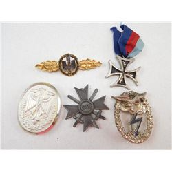 ASSORTED WWII GERMAN PINS/ MEDAL
