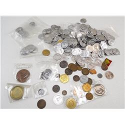 ASSORTED COINS/ MEDALS