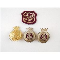 SALVATION ARMY HAT BADGES